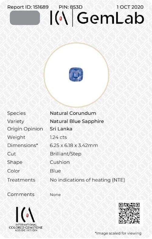 BS0018 : 1.24ct Blue Sapphire – 6mm