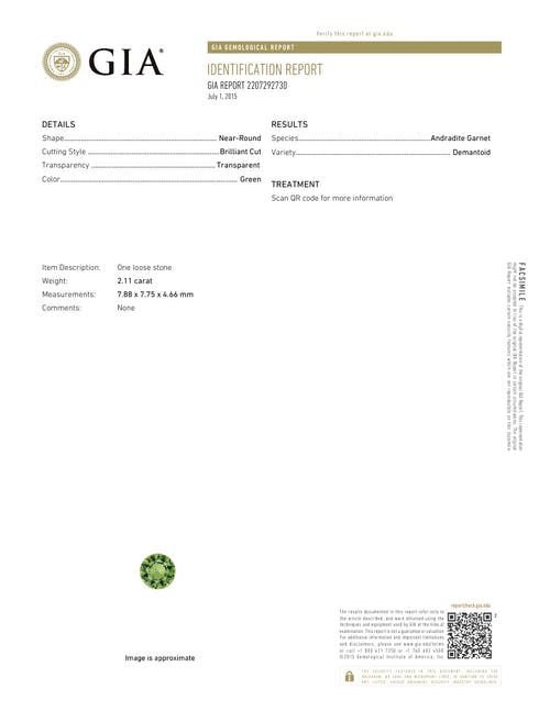 2207292730.jpg?auto=format&ixlib=php 3.3 - 2.11ct Pistachio Green Demantoid Garnet stone