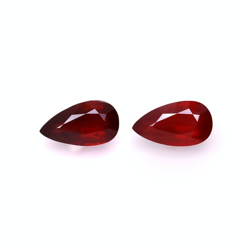 NA53-19 : 10.05ct Pigeons Blood Mozambique Ruby – Pair