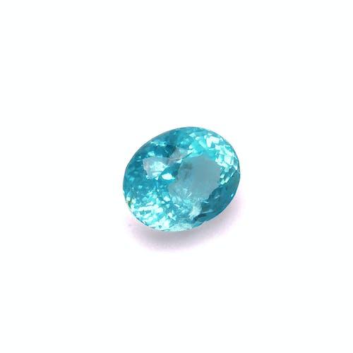 PA0191 : 4.50ct Neon Arctic Blue Paraiba – 11x9mm