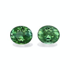 PA0289 : 10.56ct Vivid Green Paraiba – 12x10mm Pair
