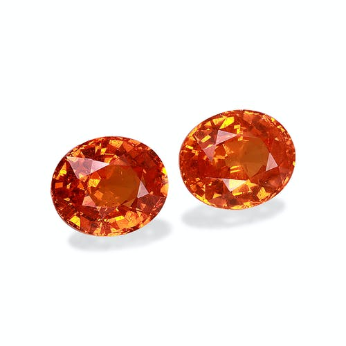 ST1186 : 15.21ct Orange Spessartite – 12x10mm Pair
