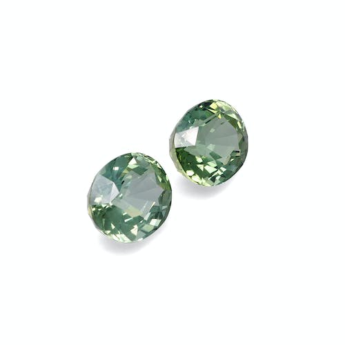TG0517 : 33.85ct Mist Green Tourmaline – 16x14mm Pair