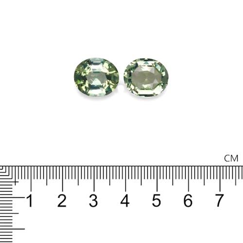 TG0547 : 16.97ct Green Tourmaline – 14x12mm Pair