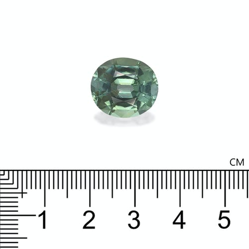 TG0788 : 11.02ct Cotton Green Tourmaline – 15x13mm