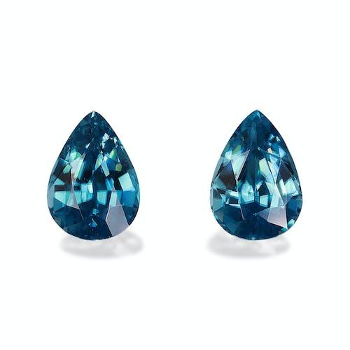 ZI0115 : 7.83ct Cambolite Blue Zircon  – Pair
