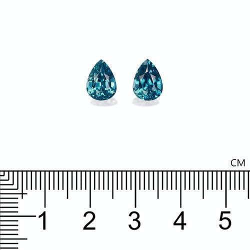 ZI0116 : 6.14ct Cambolite Blue Zircon  – Pair